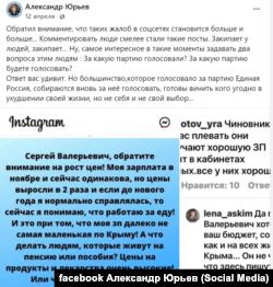 Соцмережі щодо цін в Криму