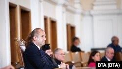Президентът Румен Радев присъства на първото заседание на 46-тото Народно събрание