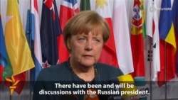 Merkel Says No Breakthrough In Ukraine Talks