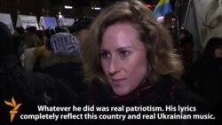 Ukrainians Bid Tearful Farewell To Singer