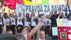 Banjaluka: Hiljade ljudi na skupu 'Pravda za Davida'