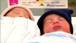 В США близнецы родились с разрывом в год
