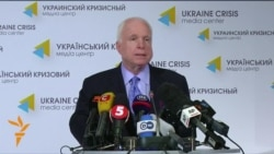 In Kyiv, McCain Calls For 'Crushing Sanctions' On Russia