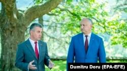 Igor Dodon și liderul regiunii transnistrene, Vadim Krasnoselski