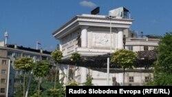 Триумфалната капија во Скопје и бројчаникот што го плати премиерот Зоран Заев а чија цел беше да брои враќање на украдените пари во буџетот