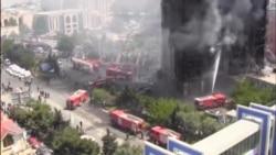 16-mərtəbəli bina yandı