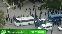 Gəncədə dindarlarla polis arasında qarşıdurma