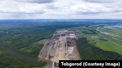 Строящийся аэропорт в Тобольске. Фото Игоря Полуянова