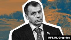 Спикер российского парламента Крыма Владимир Константинов (коллаж)