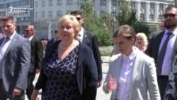 Norwegian Prime Minister Gets Taste Of Serbian History