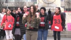 Belgrade Protesters Condemn Violence Against Women
