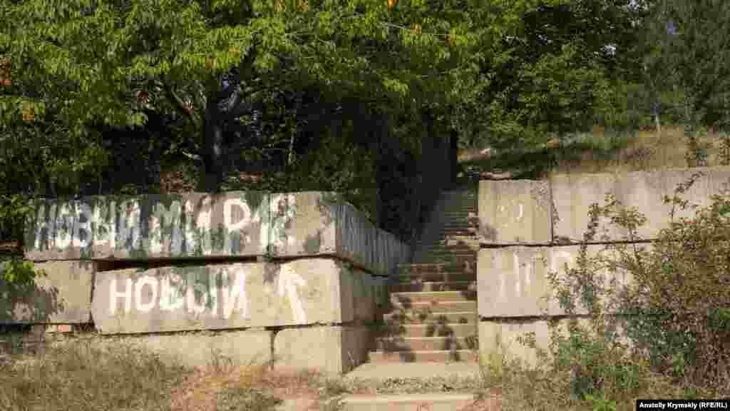 С переулка Новый Мир в Белом-4 по этим ступенькам можно подняться в Айкаван