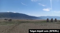 The Toktogul Reservoir in Kyrgyzstan