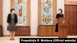 Șefa guvernului Natalia Gavrilița și președinta Maia Sandu