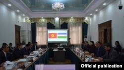 O'zbekiston Respublikasi Energetika vaziri va Qirg'iziston Respublikasi Energetika va sanoat vaziri boshchiligidagi ishchi guruh yig'ilishi. Bishkek, 2021, 13 - mart.