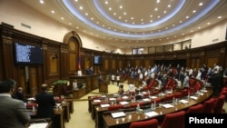 Armenia -- Session of Armenian Parliament. 16Sept.,2020