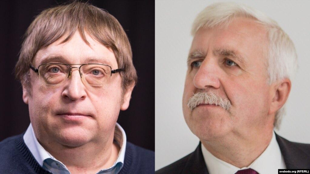 Аляксандар Фядута (справа) і Рыгор Кастусёў. Архіўныя фота
