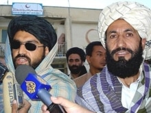Afghanistan -- Taliban representatives Mullah Bashir (L) and Mullah Nasrullah addresse the media in Ghazni, 28Aug2007