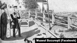 1832 - Dealul Mitropoliei, desenat de Barabás Miklós