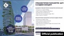 Прес конференција за парцелата1.1 спроти хотелот Холидеј ин во центарот на Скопје