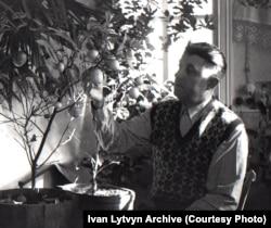 Lytvyn with a homegrown lemon tree