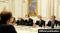 Armenia -- The U.S. and French co-chairs of the OSCE Minsk Group and other diplomats meet with Armenian Prime Minister Nikol Pashinian, Yerevan, December 14, 2020.