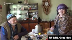 Վլադիմիր և Կիմա Բալյանները Ձյունաշողի իրենց տանը։