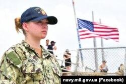 Nava militară americană USS «Ross» în timpul manevrelor Sea Breeze-2021