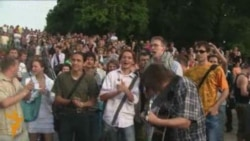 Акцыя «Рэвалюцыя праз сацыяльную сетку» у Менску