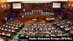 Косово парламенти президентти шайлоодо. Приштина шаары. 2021-жылдын 4-апрели.