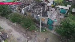 Жовтневий район Донецька після обстрілів – відео з безпілотника