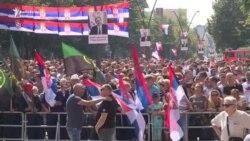 Pamje nga vizita e Vuçiqit në Mitrovicë të Veriut