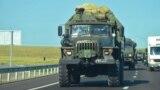 Колонна российской военной техники на трассе «Таврида», иллюстрационное фото