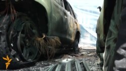 OSCE Monitoring Mission Vehicles Torched In Donetsk