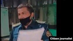 Сотрудник ОВД Чиланзарского района Диёр Болтаев, избивший и незаконно задержавший несовершеннолетнего вТашкенте.