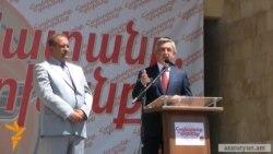 Սարգսյանը Աբովյանում հայտարարեց Ծառուկյանին սատարելու մասին