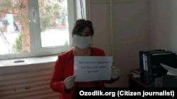 """""""Karmanagaz"""" xodimi 40 yashar To'xtagul Turdiyeva"""