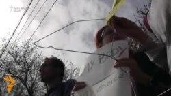 Protest la Chișinău împotriva proiectului de lege care interzice total avorturile în Polonia