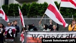 Протест за ослободување на Раман Протасевич во Полска