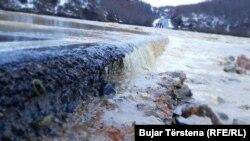 Vërshimet në Klinë më 12 janar, 2021.