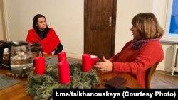 Сьвятлана Ціханоўская і Сьвятлана Алексіевіч у Бэрліне, 13 сьнежня 2020 г.