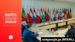 Վրաստան - Իշխանության և ընդդիմության բանակցությունները Թբիլիսիում, մարտ, 2021թ․