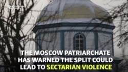 No Entry: Ukrainian Crowd Blocks Priests From Church