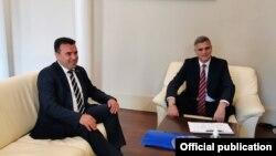 Софија- средба на македонскиот премиер Зоран Заев и бугарскиот службен премиер Стефан Јанев, 17.06.2021