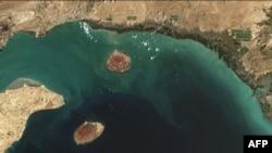 تصویر ماهوارهای شمال تنگه هرمز در روز سه شنبه.