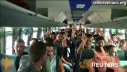 Іракські новобранці вирушають на боротьбу з ісламістськими бойовиками