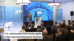 U.S. Ambassador to the U.N Nikki Haley Spoke At American Enterprise Institute