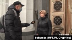 Про позицію «ЄС» щодо лобіювання їхнім депутатом в'їзду підсанкційних російських акторів «Схеми» запитали в співголови фракції Ірини Геращенко