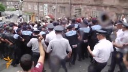 Angry Protest Against Electricity Price Hike In Armenia