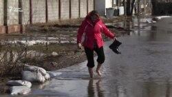 Узынагаш подтопило талыми водами